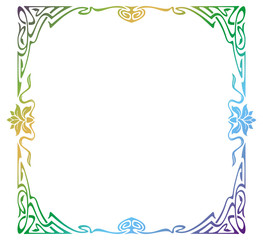 Raster gradient filled art nouveau picture frame
