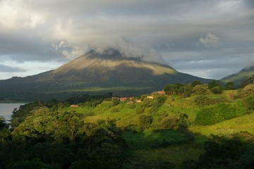 A view of Arenal volcano, Costa Rica.