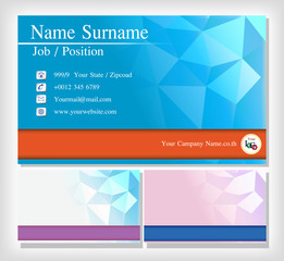 Vector modern creative and polygon business card template. Flat design