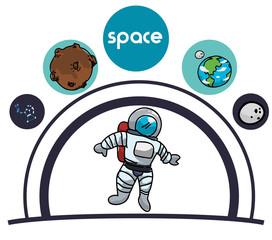 Space icons design