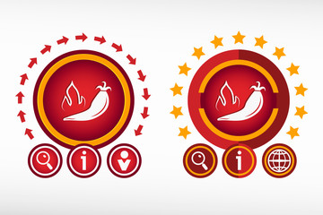 Hot pepper icon on creative background