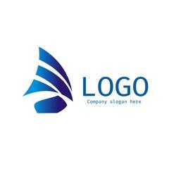 Vector of sailing ship icon. Cruise. Sea Regatta. Business icon for the company. Design element. Vector illustration.