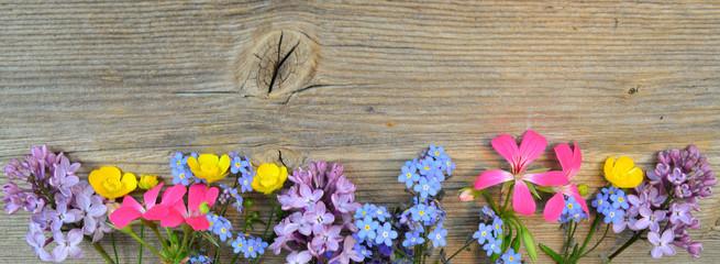 Frühling Banner Holzhintergrund