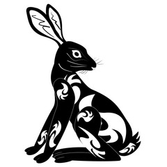 ornament decoration tribal rabbit tattoo