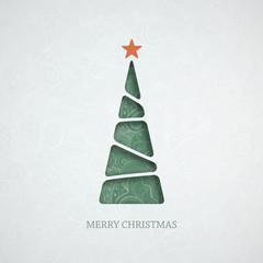 Creative paper Christmas tree.