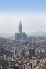Aerial view of Mecca skyscrapers