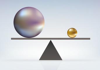 équilibre - disproportion - différent