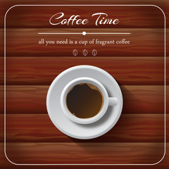 Coffe Time, cup of coffee on the table