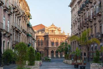 "The opera theater, called ""Teatro Bellini"", in Catania"
