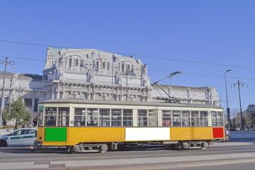 milano con tram in stazione centrale