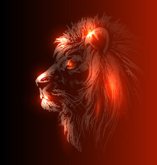 Vector illustration of lion head