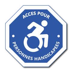 Logo accès pour personne handicapée.