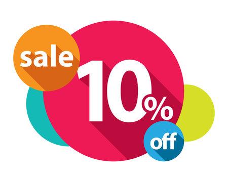 10% discount logo colorful circles