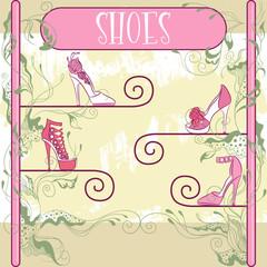 Decorative shoe showcase