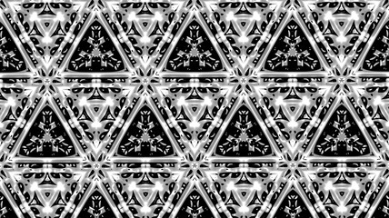 Чёрные узоры на стекле. Фантазия. 1