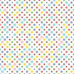 Seamless dotted pattern, polka dot fabric, wallpaper, vector.