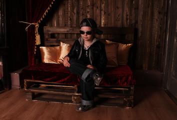 Boy in stylish clothes