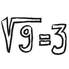 doodle square root,  illustration icon