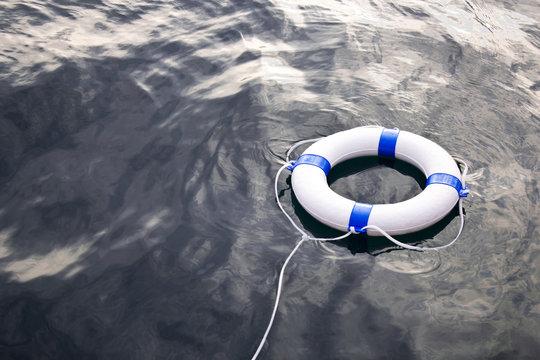 Sea life saver float on the sea