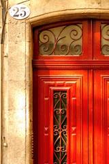 Red door in Aix-en-Provence