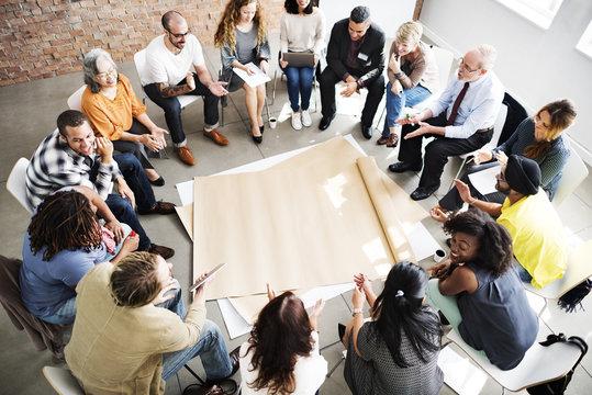 Team Teamwork Meeting Start up Concept