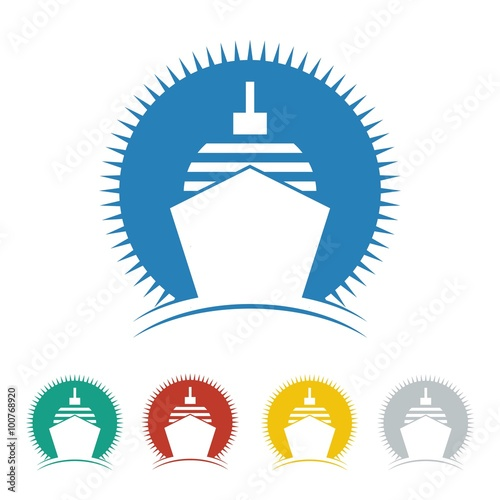 Cruise Ship Logo Icon Vector Stock Image And Royaltyfree Vector - Cruise ship logos