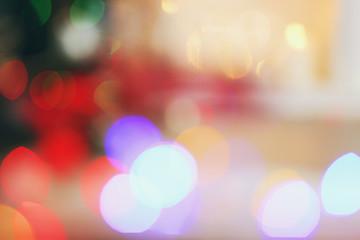 Blurred image of Christmas lights
