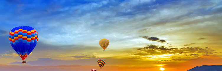 air balloons sunset discovery