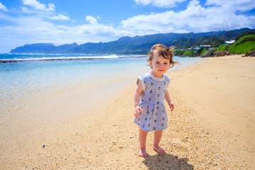 Cute One Year Old Portrait in Hawaii