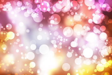 Abstract illustration bokeh light on blurred background