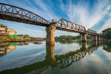The death railway bridge over Kwai river