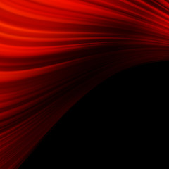 Red smooth twist light lines. EPS 10