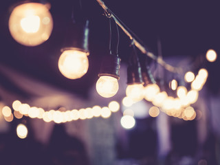 Lights decoration Festival Event outdoor vintage tone