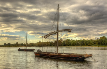 Wooden Boats on Loire Valley