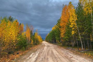 Autumn in Siberia.