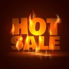 Hot Sale. Vector illustration.
