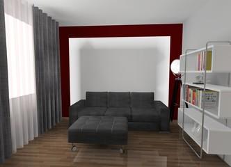 wizualizacja - salon