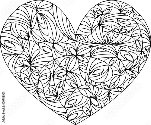 Herz Mandala Vorlage Malbuch Fur Erwachsene