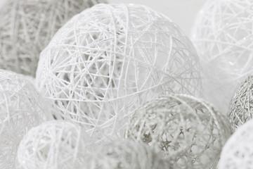 Delicate handmade balls for decoration