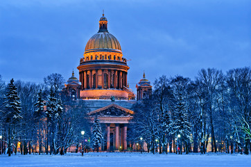 St Isaac Cathedral in Saint Petersburg, Russia