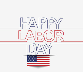 Vector text illustration for labor day.
