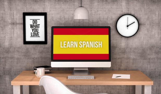 workspace computer learn spanish
