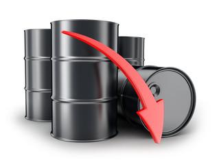 Petroleum, arrow down