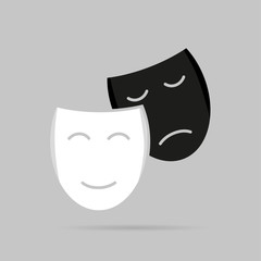 Icons with shadow masks on a gray background
