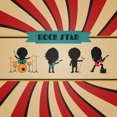 retro rock poster