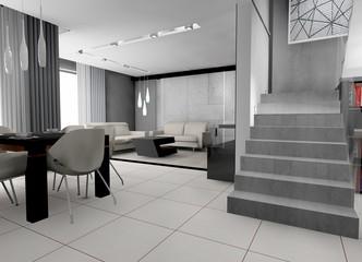 wizualizacja - wnętrze domu