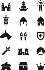 MEDIEVAL black icons