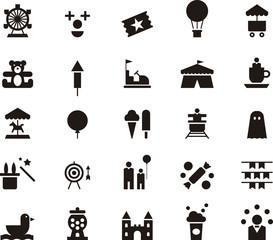 AMUSEMENT PARK black icons