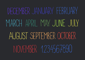 month names and numbers