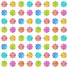 Seamless pattern with pastel colored flowers